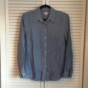 Gap Blue Button Down Dress Shirt